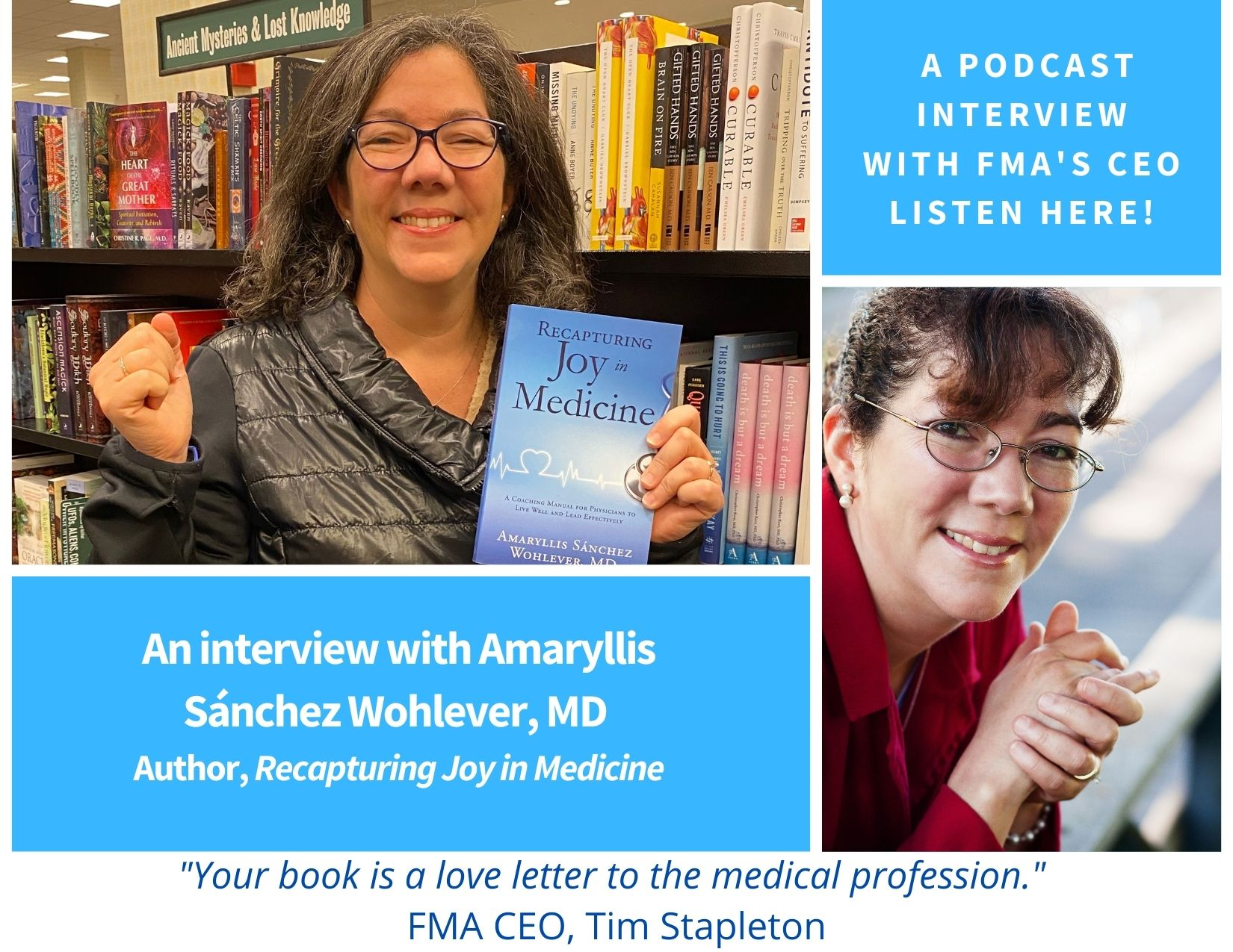 My Podcast Interview FMA CEO - Amaryllis Sanchez Wohlever - Jan 2021